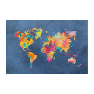 acrílico del mapa del mundo