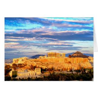 Acrópolis de Atenas Tarjeta
