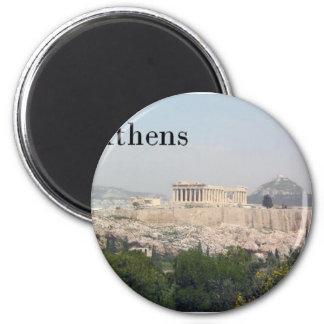 Acrópolis de Grecia Atenas Imán Redondo 5 Cm