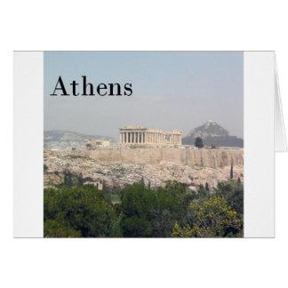 Acrópolis de Grecia Atenas Tarjeta