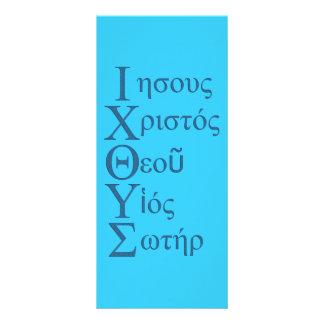 Acrostic de IXOYE (azul) Lona
