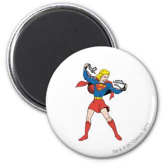 Actitud 10 de Supergirl Imán Redondo 5 Cm