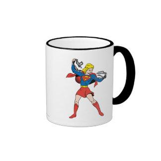 Actitud 10 de Supergirl Taza De Dos Colores