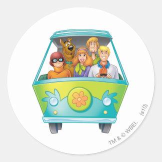 Actitud 25 del aerógrafo de Scooby Doo Pegatina Redonda