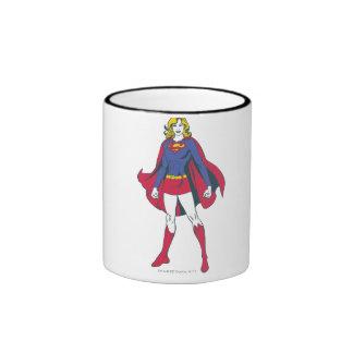 Actitud 2 de Supergirl Taza De Dos Colores