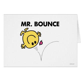 Actitud clásica de Sr. Bounce el | Tarjeta De Felicitación