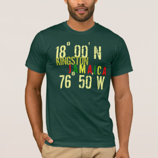 Actitud de JAMAICA Camiseta