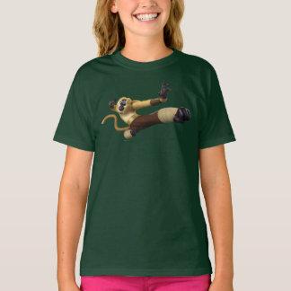 Actitud de la lucha del mono camiseta