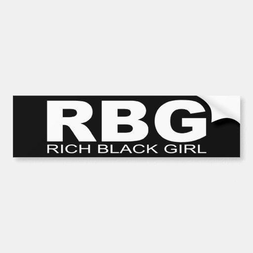 """Actitudes - """"chica negro rico """" pegatina de parachoque"""