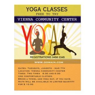 Actitudes de la yoga de la aptitud del deporte de folleto 21,6 x 28 cm