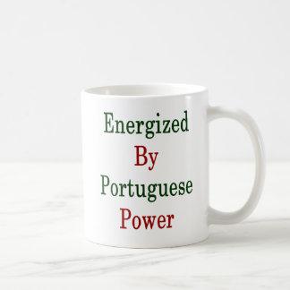 Activado por poder portugués taza de café