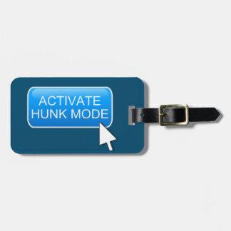 Active el modo del trozo etiqueta para maletas