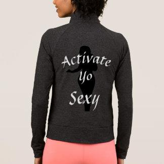Active la chaqueta atractiva de la práctica de Yo