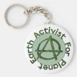 Activista de la tierra llaveros personalizados
