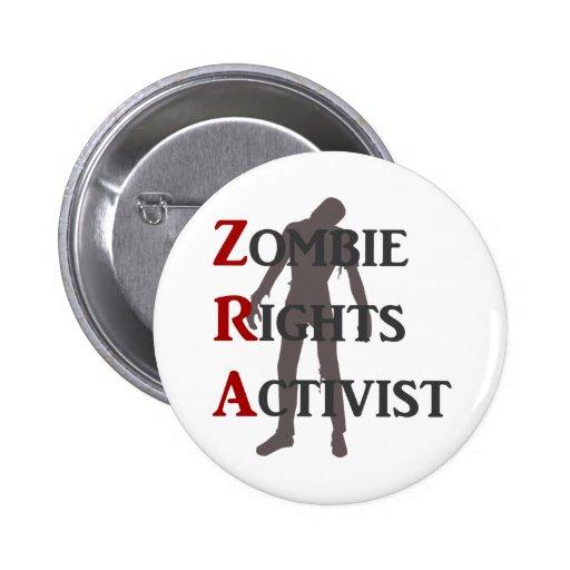 Activista de las derechas del zombi pins