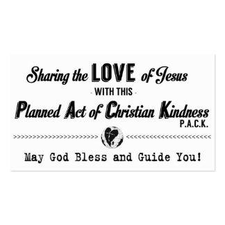 Acto previsto de la tarjeta cristiana de la tarjetas de visita