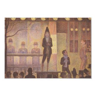 Acto secundario de circo de Jorte Seurat Invitación 8,9 X 12,7 Cm