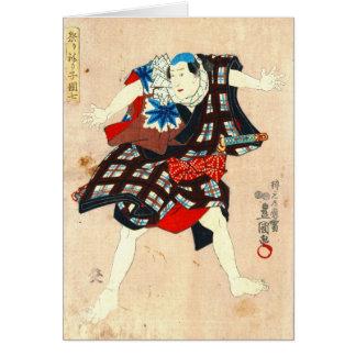 Actor cómico 1848 tarjeta de felicitación