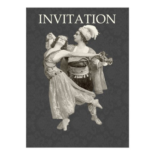 actores del teatro de los años 20 invitacion personalizada