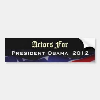 Actores para el pegatina 2012 de presidente Obama Pegatina De Parachoque