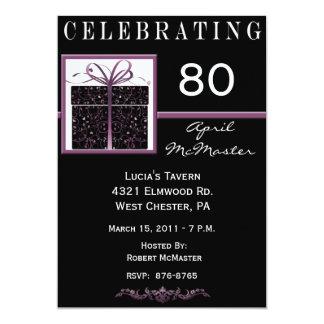 Actual 80.a invitación de la fiesta de cumpleaños