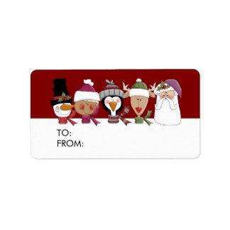 Actuales etiquetas del regalo para los días de etiqueta de dirección