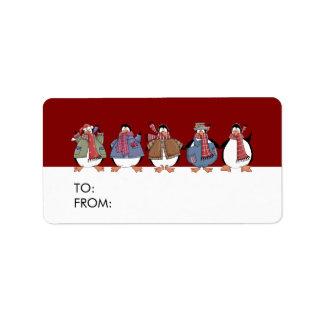 Actuales etiquetas del regalo para los días de etiquetas de dirección