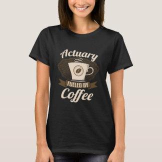 Actuario aprovisionado de combustible por el café camiseta