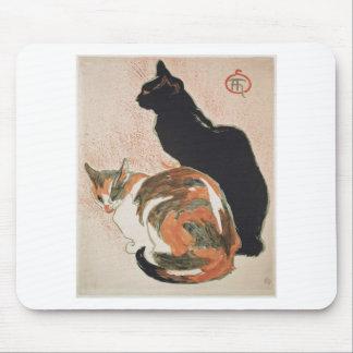 Acuarela - 2 gatos - Théophile Alejandro Steinlen Alfombrilla De Ratón