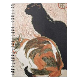 Acuarela - 2 gatos - Théophile Alejandro Steinlen Cuaderno