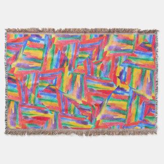 Acuarela abstracta del arco iris manta