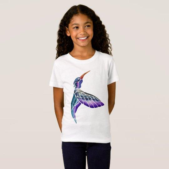 Acuarela abstracta del colibrí camiseta