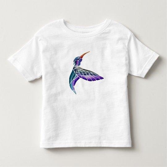 Acuarela abstracta del colibrí camiseta de bebé