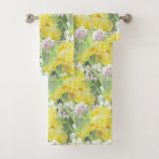 Acuarela alta amarilla del iris barbudo