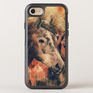Acuarela artística de los caballos que pinta funda OtterBox symmetry para iPhone 7