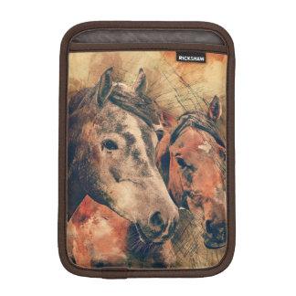 Acuarela artística de los caballos que pinta funda para iPad mini
