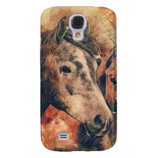 Acuarela artística de los caballos que pinta samsung galaxy s4 cover