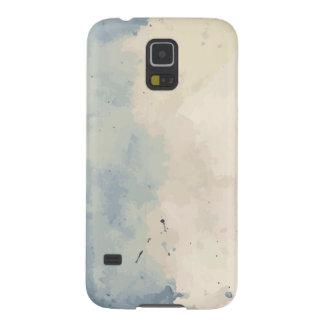 Acuarela azul/beige artística carcasa galaxy s5