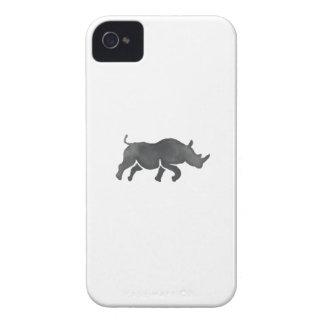 Acuarela corriente de la silueta del rinoceronte carcasa para iPhone 4