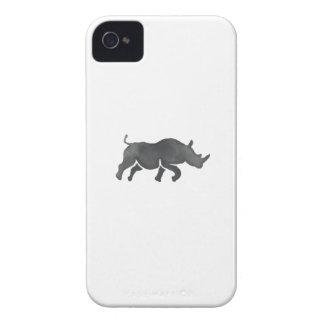 Acuarela corriente de la silueta del rinoceronte funda para iPhone 4 de Case-Mate