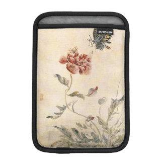 Acuarela de la abeja, de la mariposa y de la funda para iPad mini