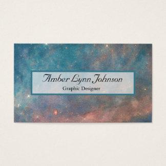 Acuarela de la galaxia tarjeta de visita