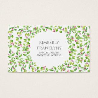 Acuarela de las floraciones de la vid del jardín tarjeta de negocios