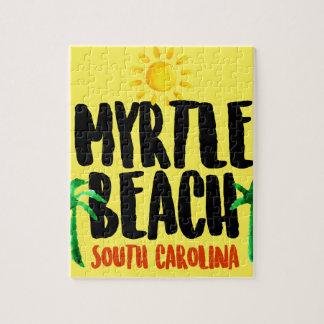 Acuarela de Myrtle Beach Puzzle
