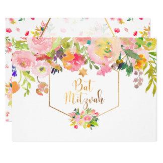 Acuarela de PixDezines/Peonies florales/palo Invitación 12,7 X 17,8 Cm