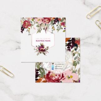 Acuarela de PixDezines/ramo florales de la Tarjeta De Visita Cuadrada