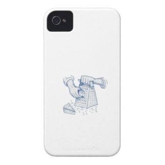 Acuarela de rejilla del rallador del queso del PDA Carcasa Para iPhone 4