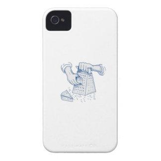 Acuarela de rejilla del rallador del queso del PDA Carcasa Para iPhone 4 De Case-Mate