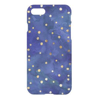 Acuarela del azul de cobalto y caso del iPhone 7 Funda Para iPhone 7