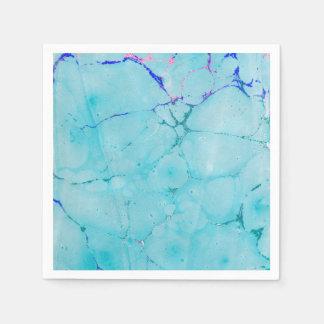 Acuarela del extracto de la pintura del mármol del servilletas desechables